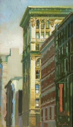 ۩۩ Painting the Town ۩۩ city, town, village & house art - FRANCIS LIVINGSTON Light Silver (2013)