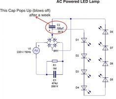 AC Powered LED Lamp