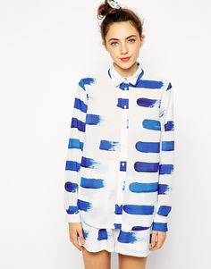 Image 1 ofTextile Federation for ASOS Printed Shirt