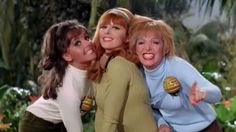 Gilligan's favorite American singing group 'The Mosquitoes' lands on the island. The girls perform their debut single,