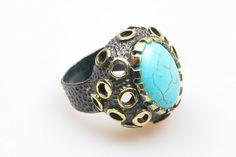 Auténtico estilo otomano anillo de piedra por NickNackSupplies