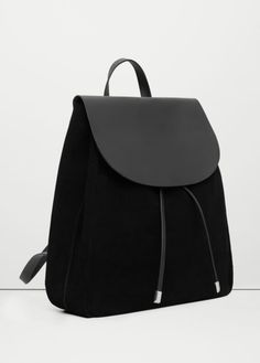 Mochilas in Alone With a Paper Mochila Preta *Clique para ver post completo* Sacs Design, Cute Backpacks, Leather Backpacks, Black Leather Backpack, Girl Backpacks, School Backpacks, Leather Bags, Backpack Purse, Backpack Outfit
