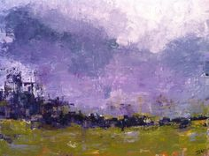 LANDE tableau paysage abstrait 70x90 cms  par ISANATIVELLE sur Etsy