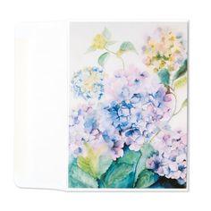 Hydrangea, Blue Wave I Wall Art, Canvas Prints, Framed Prints, Wall Peels Framed Artwork, Framed Prints, Canvas Prints, Wall Art, Watercolor Plants, Blue Hydrangea, Blank Cards, Decoration, Contemporary Artists