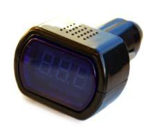 LCD Auto Sigarettenaansteker Voltmeter Monitor - lcd auto cigarrette lighter voltmeter