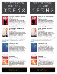 "We just added this bookmark with a best fiction for teens. It matches the end cap flyer already in LibraryAware. Search ""Teen Fiction"" in any bookmark section and Flyers-Books."