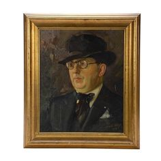 William E. Fay Original 1930 Oil Painting on Canvas