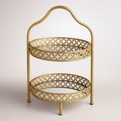 Gold 2-Tiered Stand | World Market