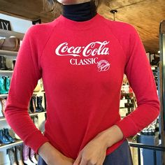 """43 Likes, 2 Comments - High Class Hillbilly (@hchvintage) on Instagram: """"Perfect for rainy days or chilly summer nights •Vintage Coca Cola Red Sweatshirt XS-S $45• Vintage…"""""""