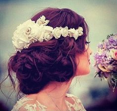 """Find and save images from the """"Hair"""" collection by Alejandra Garcia (AleGarciaP) on We Heart It, your everyday app to get lost in what you love. Lehenga Hairstyles, Boho Hairstyles, Wedding Hairstyles, Wedding Beauty, Dream Wedding, Wedding Goals, Wedding Stuff, Updo Styles, Hair Styles"""