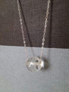 Crystal necklace for everyday wear by LilahVintage on Etsy, $32.50