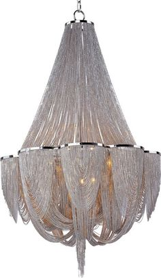View the Maxim 21466NK Chantilly 12 Light 1 Tier Empire Chandelier at LightingDirect.com.