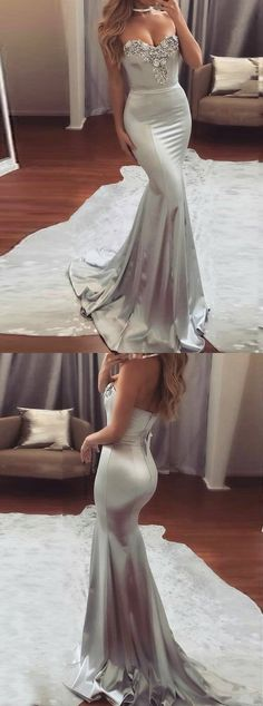 sexy prom dresses,mermaid prom dresses,beaded prom dresses,silve prom dresses,@simpledress2480