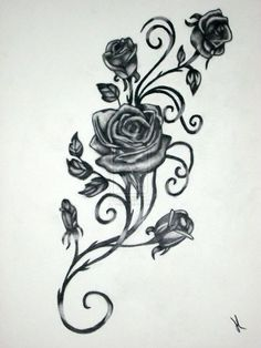 Vine and Roses by Vaikin