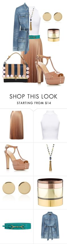 """""""Casual Dress"""" by glamourgrammy on Polyvore featuring Miss Selfridge, WearAll, Sergio Rossi, Tory Burch, Magdalena Frackowiak, Gemma Redux, Gucci, Yves Saint Laurent and Fendi"""