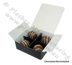Chocolate box 4 Cavity Black