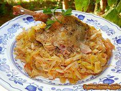 Rata la Cuptor 4 Romanian Food, Cabbage, Bacon, Cherry, Chicken, Meat, Vegetables, Ethnic Recipes, Ice Cream