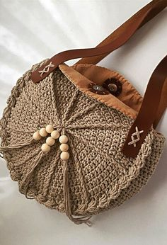 Bag Models Worth Seeing In August 2019 - Page 25 of 40 -Crochet Bag Models Worth Seeing In August 2019 - Page 25 of 40 - Crochet round bag Knit circle bag Stylish round women's Crochet Handbags, Crochet Purses, Crochet Bags, Crochet Ideas, Crochet Patterns, Girls Knitted Dress, Crochet Girls, Crochet Shoulder Bags, Crochet Market Bag