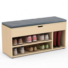 Tribesigns Shoe Storage Bench Upholstered Rack Hall For Entryway Hallway Bedroom