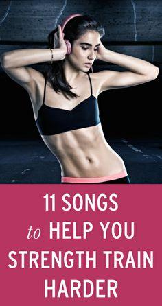 a strength training playlist