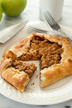 This Dutch Apple Galette for Two is an easy and beautiful rustic dessert for those days when you feel like pie without all the hassle. Recipe includes nutritional information. From http://BakingMischief.com