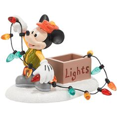 Department 56 Disney Village Mickey Mouse Lights Up Christmas