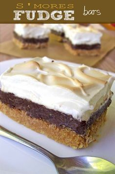 S'mores Fudge Bars Recipe | www.sugarapron.com | Gimme Some More #Smores #delicious #recipe #cake #desserts #dessertrecipes #yummy #delicious #food #sweet