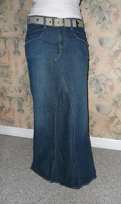 1509b4b73b981 Custom Your Size Long Jean Skirt Old Navy New by CustomJeanSkirts, $40.00 Modest  Long Skirts