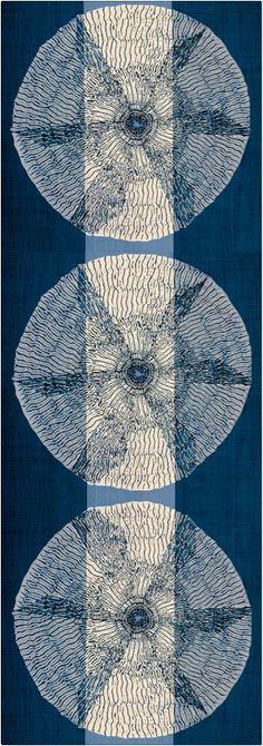 Shibori design: think sashiko on dusty rose and cream fabrics Textile Dyeing, Art Textile, Textile Patterns, Japanese Textiles, Japanese Fabric, How To Dye Fabric, Fabric Art, Shibori Tie Dye, Fabric Manipulation