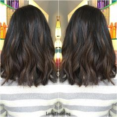 I only balayage my dark hair clients if 1) they're ok with being warm 2) they don't want to be too light. Otherwise, I use traditional foils to get them blonde in ONE session. #bayalagehighlights #asianhair #midlength