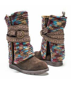 Look what I found on #zulily! Dark Brown Nikki Boot - Women by MUK LUKS #zulilyfinds