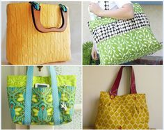 Purse Tutorial ~ 15 Fabulous Free Bag Patterns. Not sure I have it in me to do this but I may try it