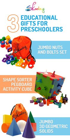 Combine education with play when you shop at Skoolzy. Creativity meets building with unique finds like a Jumbo Nuts and Bolts Set or Shape Sorter Pegboard Activity Cube. Learn shapes, patterning and develop fine motor skills with this wide-selection of educational toys.