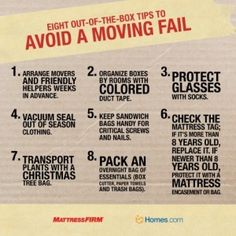 8 Out of the Box Tips to Avoid a Moving Fail .. #movingtips #packingtips