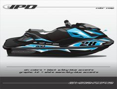 GK-SC2-RXPX2 (White-SkyBlue on Black Ski w-SkyBlue Accents) http://www.ipdjetskigraphics.com/rxpx-260-graphics/