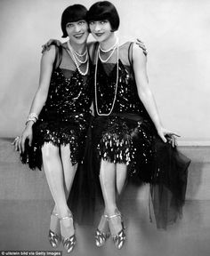 Rags to riches: Rose and Jenny Dolly are pictured above in 1927, when they were causing a stir on thevaudeville circuit
