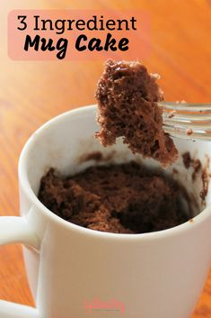 Only 3 ingredients are standing between you and a delicious mug cake (and one of them is water! This is the best mug cake recipe we've found and we love how quick and easy it is to make in the microwave! This one is chocolate, but you could make any fla Microwave Chocolate Mug Cake, Nutella Mug Cake, Mug Cake Microwave, Chocolate Mug Cakes, Microwave Recipes, Easy Microwave Desserts, Chocolate Desserts, Easy Mug Cake, Mug Cake Healthy