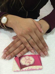 Uñas de acrílico forma cuadrada #naturales #clasicas #bonitas