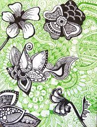 Afbeeldingsresultaat voor flower gardens zentangle tangles