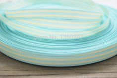 "Find More Ribbons Information about New arrival 100 Yards3/8"" 9 10mm of double face baby blue  white Striped grosgrain ribbon,High Quality arrival singapore,China ribbon mix Suppliers, Cheap ribbon hat from Shiny Shiny store on Aliexpress.com"