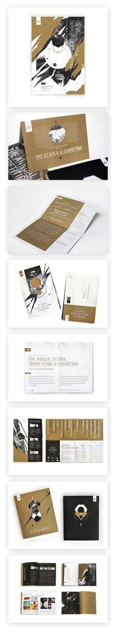 Black & white with accent colour - AIGA KC Design Awards Layout Design, Graphic Design Layouts, Graphic Design Print, Print Layout, Graphic Design Typography, Brochure Design, Graphic Design Illustration, Leaflet Design, Booklet Design