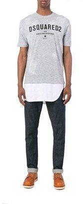 DSQUARED2 Men's Grey Cotton T-shirt.
