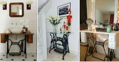 Las mesas de las máquinas de coser han cambiado de función. ¡Ahora decoran hogares con mucho estilo! Apunta esta ideas.