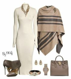 Office Attire A fashion look from January 2015 featuring H&M dresses, Burberry and L. Classy Outfits, Chic Outfits, Fashion Outfits, Womens Fashion, Fashion Trends, Woman Outfits, Fashion Ideas, Classy Clothes, Beautiful Clothes