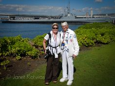 ThPhoto of my dear friend Bob Raffato, Pearl Harbor Survivor, and I (in my snazzy media vest) at the 69th Pearl Harbor Remembrance Day.  We're standing in front of the USS Bowfin Submarine which currently resides in Pearl Harbor.