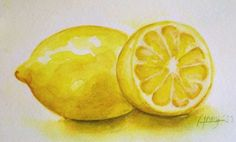 "(bought it) ""Lemon"" 5x7 - Watercolor Painting -  Print. $12.00, via Etsy."