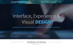 Design Portfolio by Joseph Herron. Joe is a Creative Director and Senior UX / UI…