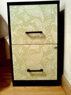 old file cabinet and some contact paper pretty. Black Bedroom Furniture Sets. Home Design Ideas