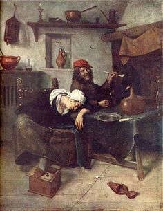 Idlers - Jan Steen  -  Completion Date: 1660