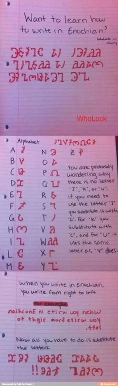 Learn to write in Enochian.